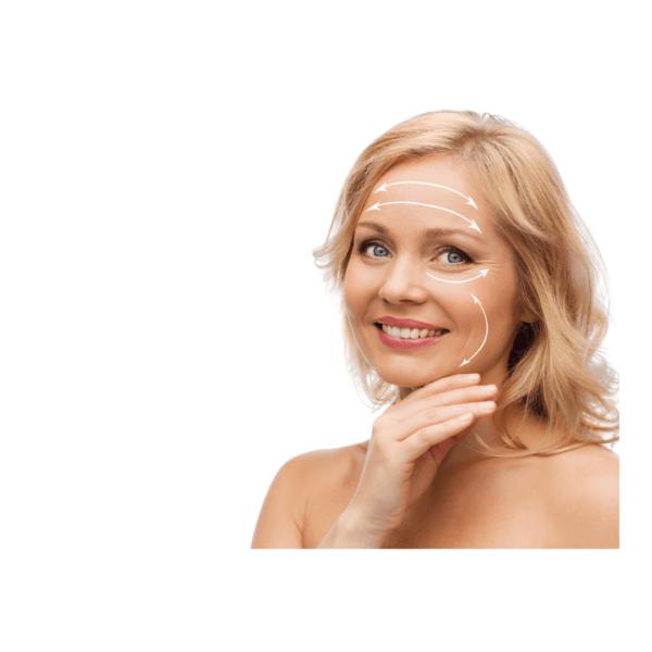 zatezanje kože lica